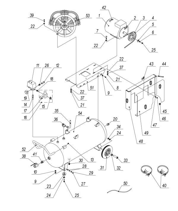 Запчасти к поршневым компрессорам Aircast СБ4/С-100.LB40.